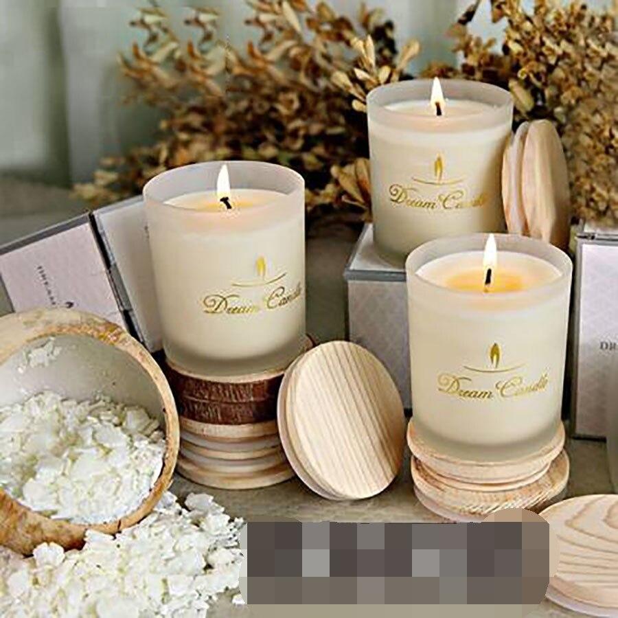 Aromathérapie sans fumée décoratif bougies décoration de mariage romantique parfumée anniversaire bougie noël soja cire Candele 30C0017