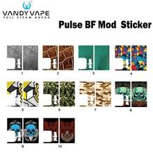 Oryginalny Vandy Vape PULSE BF MOD wymiana naklejki nadające się do elektronicznego papierosa VandyVape PULSE BF Box MOD Vape tanie tanio Vandy Vape PULSE MOD Replacement Sticker Z tworzywa sztucznego