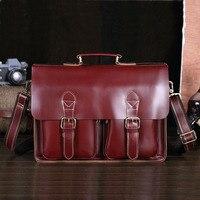 Fashion Designer Brand Messenger Shoulder Bag Handmade Vintage Laptop Briefcase Crazy Horse Leather Crossbody Tote Bag