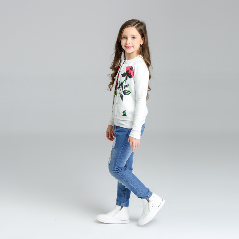 Gaueey Girls Clothing Set Cotton Kids Baby Girls Clothing Outfits Sets Fashion 3PCS Toddler Kids Baby Girl Clothes Set 3-13Years off shoulder tops t shirts denim pants hole jeans 3pcs outfits set clothing fashion baby kids girls clothes sets