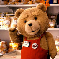 Movie Teddy Bear Ted 2 Plush Toys In Apron Soft Stuffed Animals Kids 46CM
