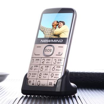 Altavoz grande del teléfono principal Original/fuente/barato Elder linterna/SOS gran teclado viejo hombre teléfono ruso Idioma newmind L6