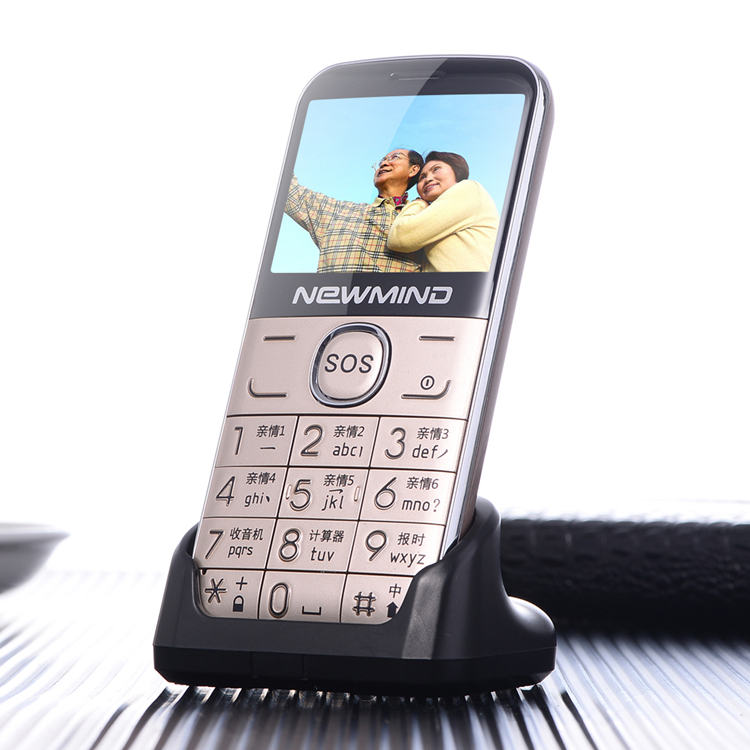 Originale Telefono Maggiore Grande Altoparlante/Font/Torcia Elettrica A Buon Mercato Anziano/SOS tastiera Grande Vecchio Telefono di Lingua Russa newmind L6