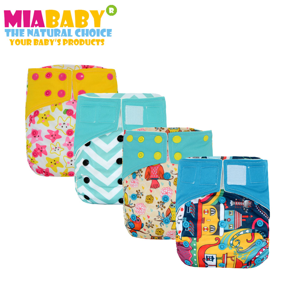 Miababy OS Bamboo AIO Heavy Wetter Cloth Diaper bamboo inner and with 2 bamboo inserts