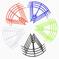 4PCS Blades Protection Frame Guard Syma X5 X5C X5S X5SC X5SW Propeller Protectors RC Quadcopter Accessories Drone Spare Parts