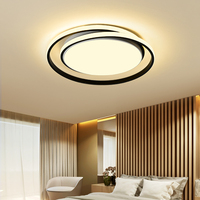 Creative fashion modern led chandelier foyer living room dining room bedroom study black and white round aluminum chandelier