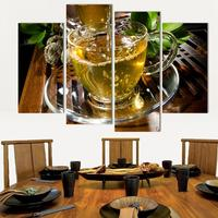 Canvas Art Kitchen Canvas Painting Large Wall Tea Poster For Living Room Wall Pictures Print On