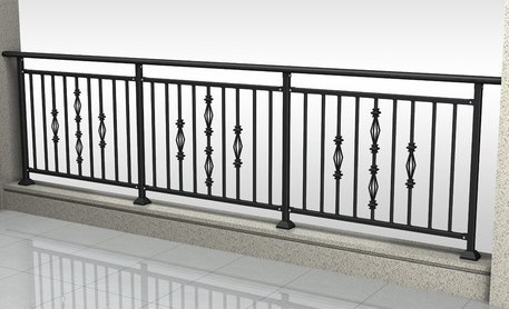 Garden Decorative Wrought Iron Stair Railing Fence Attic Windows | Decorative Wrought Iron Handrail | Forged Iron | Interior | Classic | Ornamental | Steel