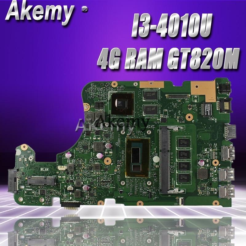 Akemy X555LD Laptop Motherboard For ASUS X555LD X555LP X555LA X555L X555 Test Onboard Mainboard 4G RAM I3-4010U GT820M