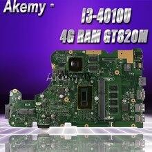 Akemy X555LD материнская плата для ноутбука ASUS X555LD X555LP X555LA X555L X555 Тесты на борту плата 4G Оперативная память I3-4010U GT820M