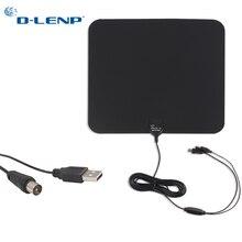 D-LENP 1080P Digital TV Antenne HDTV Indoor TV Antenne 8M Kabel mit Verstärker Signal Booster High Gain DVB-T / T2 HD Fernseher