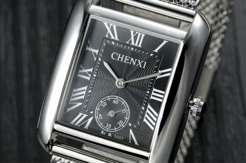Yeni ən yaxşı lüks marka CHENXI Kvars Saat Paslanmayan Polad Mesh - Kişi saatları - Fotoqrafiya 4