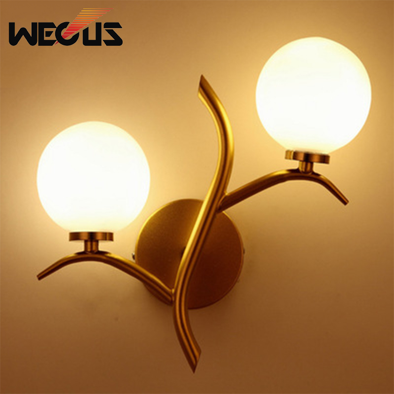 Nordic branch shape double light wall sconce concise villa background LED wall decorative lights for living room bedside hotel