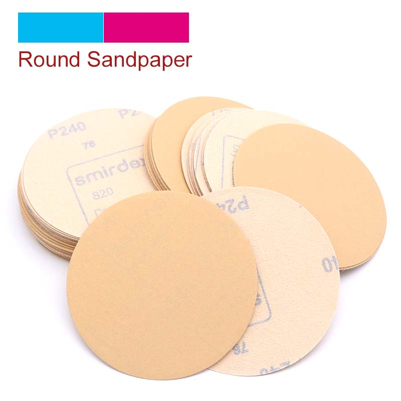 10pcs 125mm Grit <font><b>60</b></font> to <font><b>1000</b></font> Sanding Paper Discs Self Adhesive Sandpaper Round Disk Sand Sheet For Metal Furniture Grinding Tools image