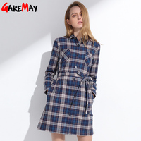 New Women S Plaid Shirt 2015 Spring Women Females Camisas Femininas Cotton Super Long Section Shirt