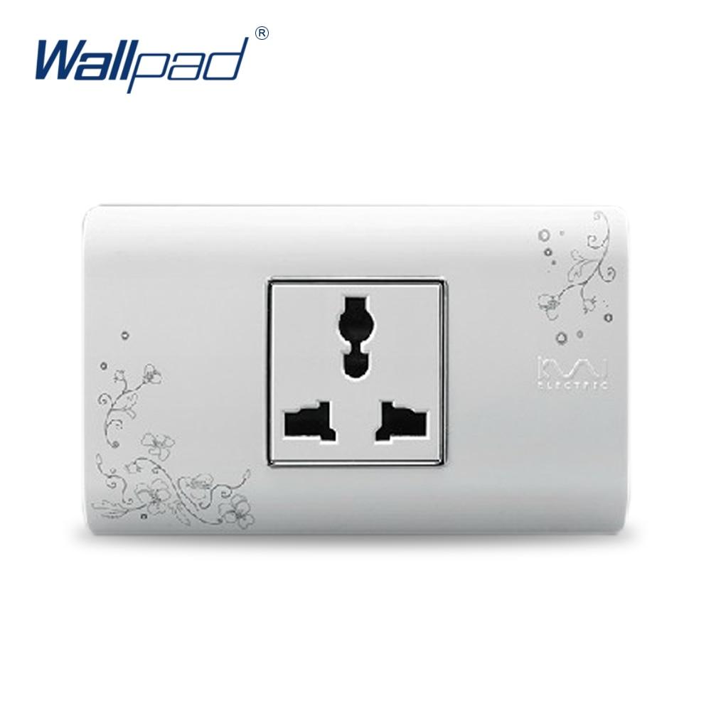 2018 Hot Sale 3 Pin Multifunction Socket Wallpad Luxury Wall Switch Panel Plug Socket 118*72mm 10A 110~250V