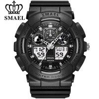 Smael Fashion Horloge Mannen Waterdichte Led Sport Militaire Horloge Schokbestendig Mens Analoge Quartz Digitale Horloges Relogio Masculino
