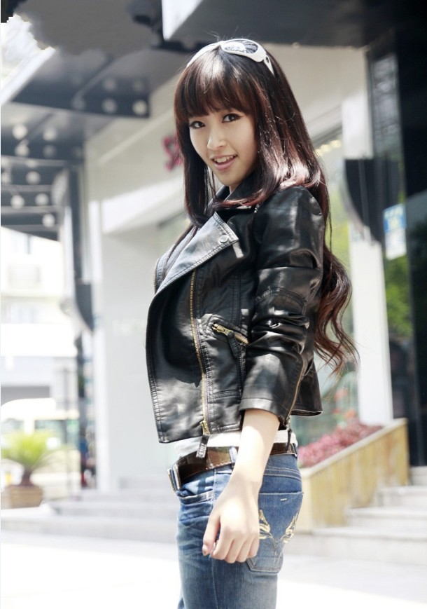Leather     Suede   thin section shorts PU   leather   jacket coat woman jacket washed   leather   clothing casual fashion