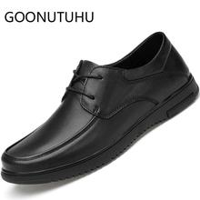 2019 new me's shoes casual genuine leather male classic black lace up and slip on shoe man cowhide flats shoes for men hot sale genuine cowhide leather men s casual shoes autumn fashion crocodile grain slip on flats shoe