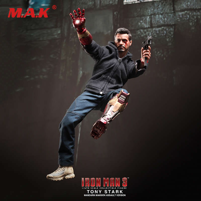 1/6 Scale Full Set Iron Man 3 Tony Stark (The Mechanic) Damaged Version Model Toys for Collection Gift MMS209 With Box hot toys hottoys ht mms209 1 6 iron man model tony stark the mechanic collectible figure specification new box in stock
