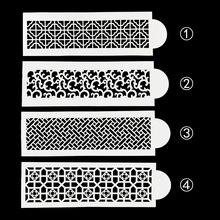 DIY Retro Blume Muster Kunststoff Schablone Pad Kuchen Spitze Form Streuen Duster Spray Dekoration Backen Werkzeug Formen FQ4157