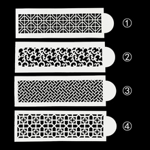 Diy レトロ花柄プラスチックステンシルパッド型ばらまくダスタースプレーデコレーションベーキングツール金型 FQ4157