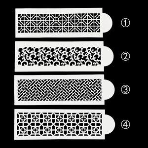 Image 1 - FAI DA TE Retrò Modello di Fiore di Plastica Stencil Pad Torta Stampo Pizzo Spargere Duster Spray Decorazione Strumento di Cottura Stampi FQ4157