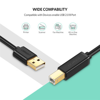 USB Printer Cable USB Type B Male to A Male USB 3.0 2.0 Cable 1