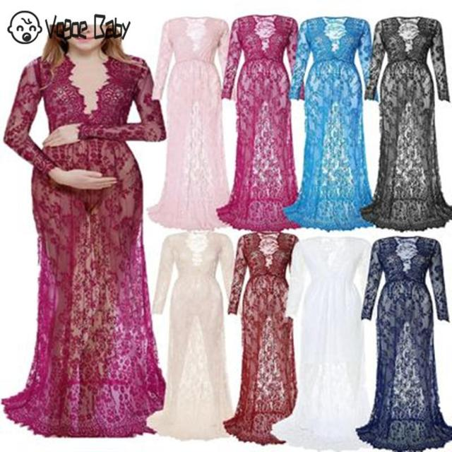 Maternity Gown Lace Dresses for Summer 1