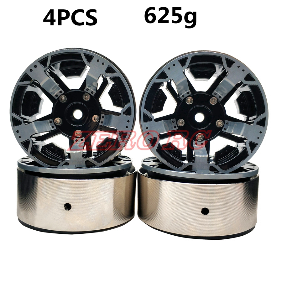 """4 pz RC 1/10 Rock Crawler Lega di 1.9 """"Beadlock Wheel Rim Hex 12mm Per RC4WD D90 ASSIALE SCX10 tamiya CC01-in Componenti e accessori da Giocattoli e hobby su  Gruppo 1"""