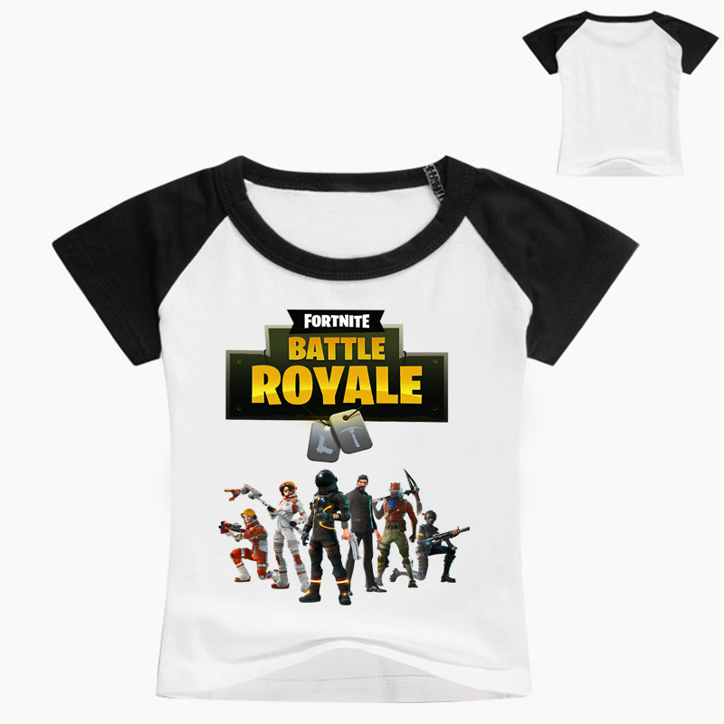 Z&Y 2-16Years Nununu 2018 Summer Tee Shirt Fortnite Shirt Kids Top Model Battle Royale Tee Shirt Enfant Girls Shirt Short Sleeve