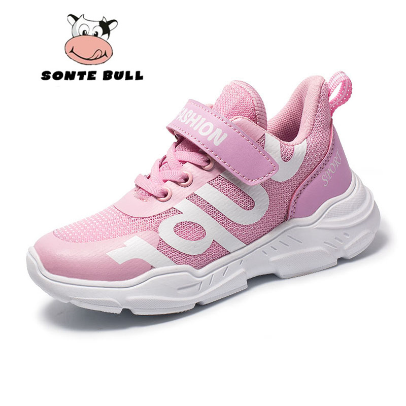 Summer New Fashion Running Shoes For Girls Mesh Breathable Casual Brand Kids Shoes Light Non-slip Children Sneakers Size 28-38