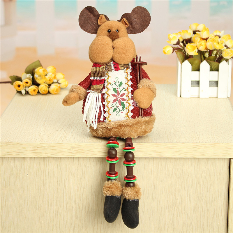 Christmas Home Decorations Sitting Cute Deer Ornament Flannel Toy Gift Baby Playpens