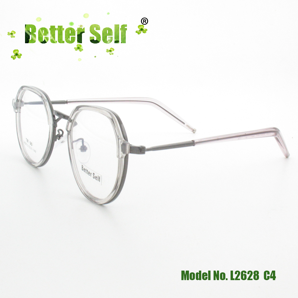 e67c6db427 Better Self L2628 Eyewear TR90 Alloy Spectacles Clear Retro Eyeglasses  Frames Men Women Myopia Optical Glasses