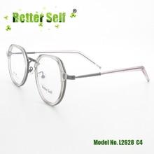 Better Self L2628 Eyewear TR90 Alloy Spectacles Clear Retro Eyeglasses Frames Men Women Myopia Optical Glasses