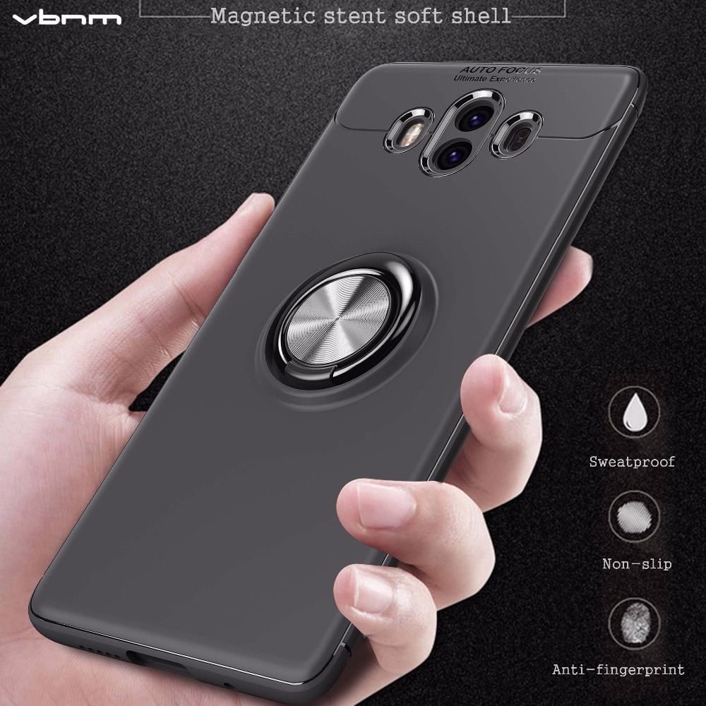 VBNM ultra Slim Cases For Huawei Mate 10 Pro lite Case Cover For Huawei Mate 9 Pro Shell Silicone Car Wheel Ring Cover Capa