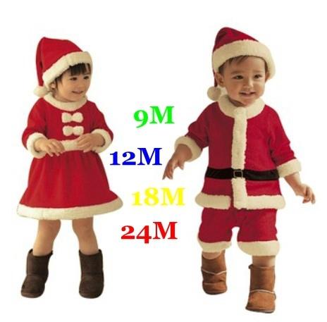 Vermelho Trajes de Natal para As Crianças Do Bebê Se Adapte Às Crianças Roupas Definidos Vestidos De meninas e Meninos Romper com Chapéus Infantil Outfits Bebe desgaste