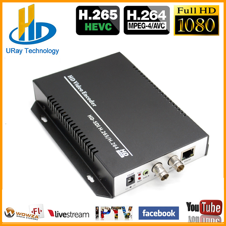 HEVC H.265 H.264 SD /HD /3G SDI To IP Live Streaming Video Audio IPTV Encoder Support H265 H264 With HTTP RTSP RTMP UDP ONVIF uray 3g 4g lte hd 3g sdi to ip streaming encoder h 265 h 264 rtmp rtsp udp hls 1080p encoder h265 h264 support fdd tdd for live