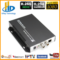 HEVC H.265 H.264 SD /HD /3G SDI To IP Live Streaming Video Audio IPTV Encoder Support H265 H264 With HTTP RTSP RTMP UDP ONVIF