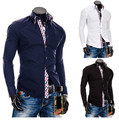 Promotions! Men's Casual Shirts Stylish Brand New Design High Grade Slim Fit Luxury Dress Shirts A8690