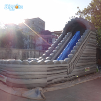 High Quality Summer Amusement Game Inflatable Water Slide Inflatable Water Slide With Pool