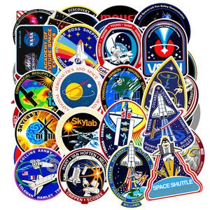 Image 1 - 94Pcs PVC Waterproof Sticker Toys Aerospace Theme Decal for Phone Laptop Luggage Bicycle Guitar Moto Adhesive Gift Stickers