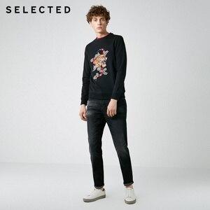 Image 3 - Мужская хлопковая толстовка с вышивкой, новая одежда с круглым вырезом, пуловер с длинными рукавами, толстовки S