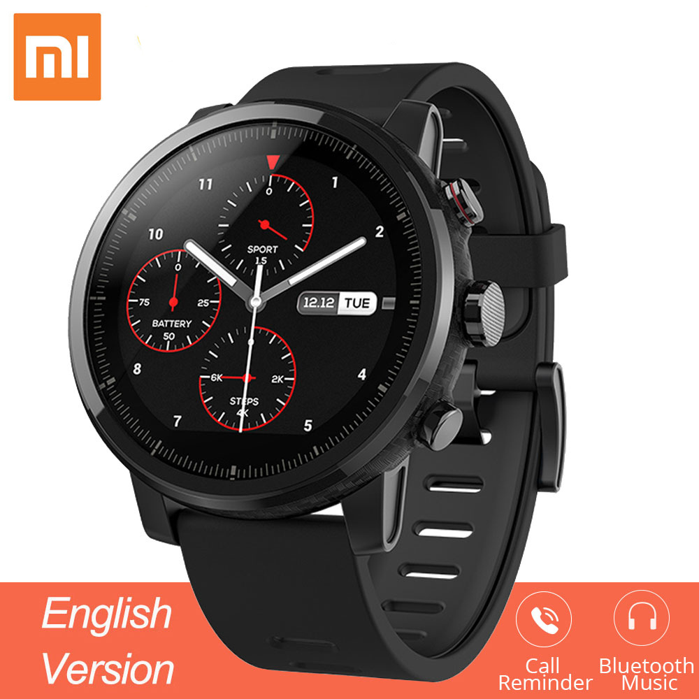 Original Xiaomi Mi Huami Smart Watch Amazfit Stratos 2 Amazfit 2 Bluetooth GPS PPG Heart Monior Waterproof Sports Smartwatch
