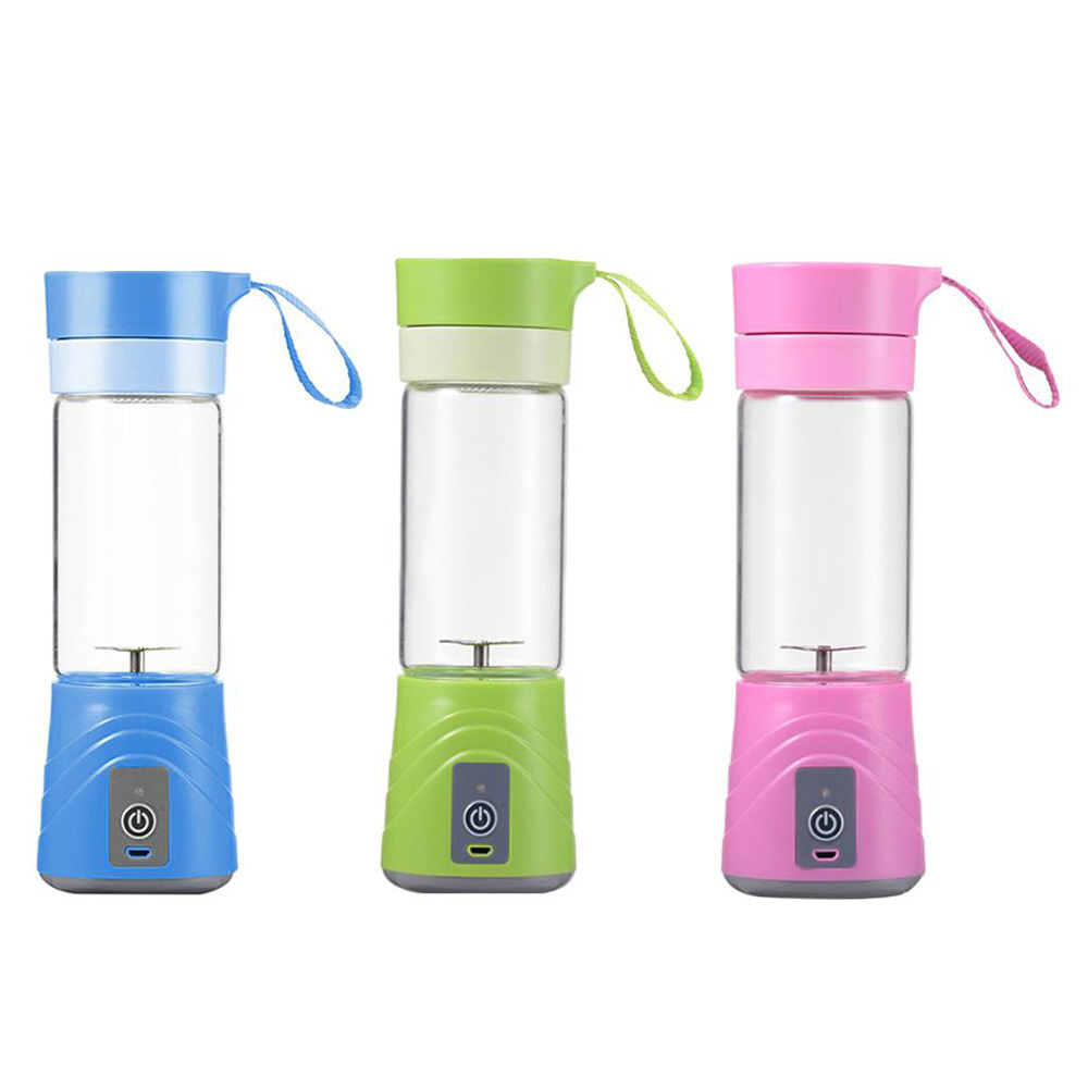 Electric Fruit Juicer Cup Smoothie Maker Blender Rechargeable Portable Green Vegetable Squeezer