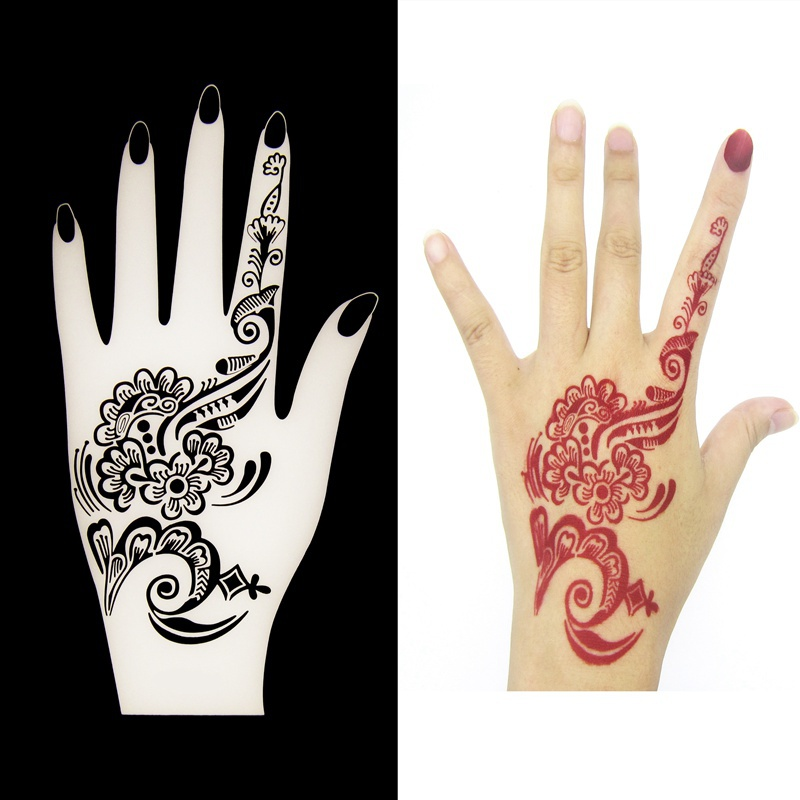 Mehndi Vorlagen Hand : Aliexpress buy pcs lot henna flower hand tattoo