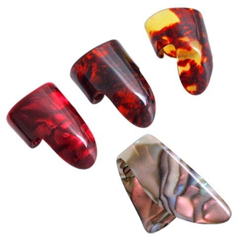 3 Finger Picks + 1 Thumb Pick Plectrums Guitar Plastic alice plastic guitar picks 12 pack