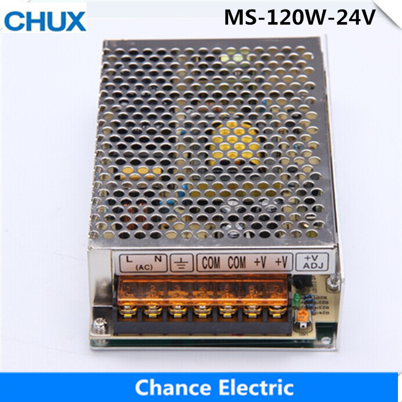 CHUX 120w 24v Switching Power Supply Small Volume LED Strip light AC to DC (MS-120W-24V)  Single Output 5A Power Suppyliers 145w 24v 6a single output switching power supply for led strip light ac to dc smps