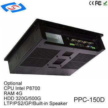 """Low Cost 15"""" With SSD 32Gb Rugged Industrial Tablet PC Support Wireless 3G & Wifi Modem GPIO RJ45 Port Automatic Ticket Machine"""