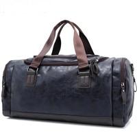 Waterproof Men Travel Bag Leather Weekend Bag Overnight Large Capacity Carry on Luggage Women Duffel Tote Bolsa Maletas de viaje